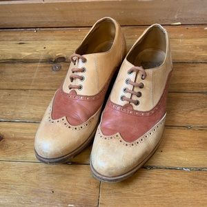 John Fluevog guardian angel Andrew wing tips